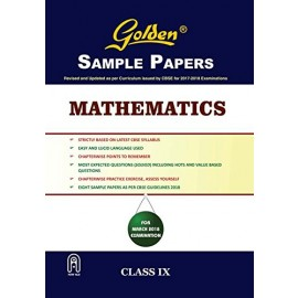 Golden (New Age) Sample Papers for Mathematics of Class 9 (2018)