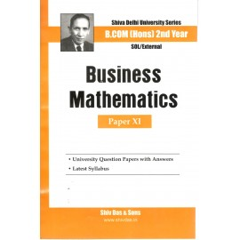 Satish & Brothers Previous Years Solved Papers Business Mathematics B.Com Hons.(2nd Year) 2018