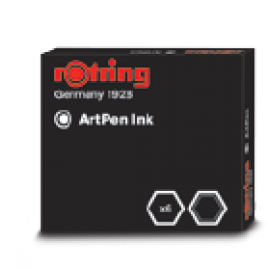 Rotring Cartridges Artpen Black Ink (S0194751)
