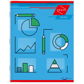 Navneet  Youva Graph Book Soft Bound 1 mm Big Size 1 Side Ruled / 1 Side Graph - 84 Pages