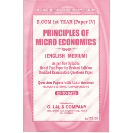 Deepa Delhi University Series Previous Years Solved Papers Principles of Micro Economics for B.Com (1st Year) 2018