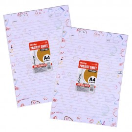 Oddy Project Sheet Designer - A4 Size (One Side Ruled Punched)