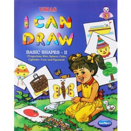 Navneet I Can Draw Basic Shapes Book 2 Trapezium, Kite, Sphere