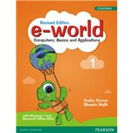 Pearson E-World Computers (Basics and Applications) Textbook of Computer Science for Class 1