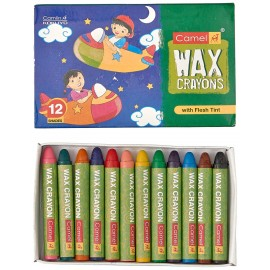 Camlin Kokuyo Colours Wax Crayons 12 Shades (Pack of 10)