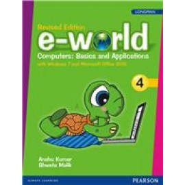 Pearson E-World Computers (Basics And Applications) Textbook of Computer Science for Class 4