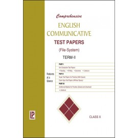 Comprehensive English Communicative Test Papers (File-System) Term 2 for Class 10 by Laxmi Publications