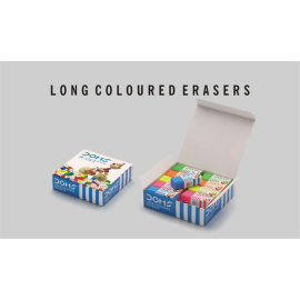 Doms Long Coloured Eraser Pack of 20