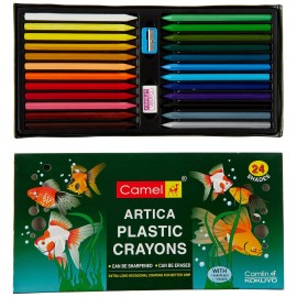 Camlin Kokuyo Colors Plastic Crayons Hexagonal 24 Shades