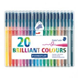 Staedtler Triplus Fine Liner Pack of 20 Colours (334 SB20)