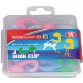 World One Hook Pins - Set of 5 Packs (WPS081) Mixed Colours