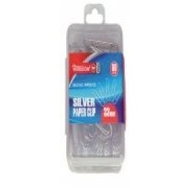 World One Paper Clips Size 28mm - Set of 5 Packs (WPS028S) Silver Colour