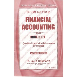 Deepa Delhi University Series Previous Years Solved Paper Financial Accounting B.Com (1st Year) 2018