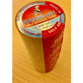 "Sambhav Tape Clear 3"" (Length 60 Meters) Pack of 4 Pcs."
