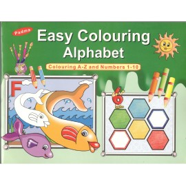 Padma Easy Colouring Alphabet (Colouring A-Z and Numbers 1-10) (P-014)
