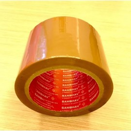 "Sambhav Tape Brown 3"" (Length 60 Meters) Single Piece"