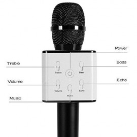 Premium Karaoke Mic with Inbuilt Bluetooth Speaker (Black)