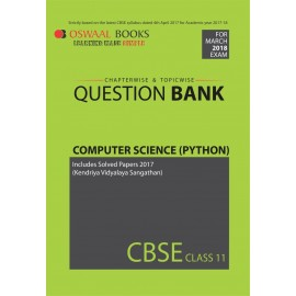Oswaal CBSE Chapterwise Question Bank Computer Science Python for Class 11 (2018)