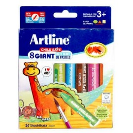 Artline Giant Water Soluable Oil Pastels - (Set of 8)