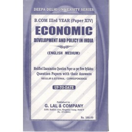 Deepa Delhi University Series Previous Years Solved Papers Economic Development and Policy in Hindi for B.Com (3rd Year) 2018
