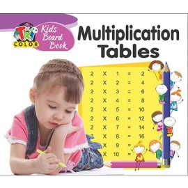 Tricolor Kids Board Book Multiplication Tables