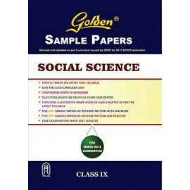 Golden (New Age) Sample Papers Social Science of Class 9 (2018)