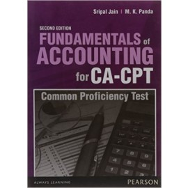 Pearson Fundamentals of Accounting for CA-CPT (Common Proficiency Test)