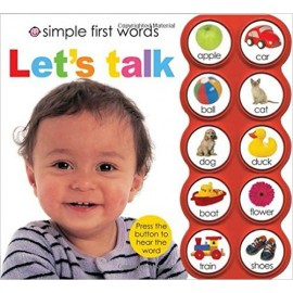 Simple First Words Let's Talk Board Book by Priddy Books