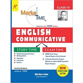 Shiv Das Marks Time CBSE Board Study Guide English Communicative Class 10 (2019)