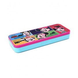 Disney Minnie Mouse Pencil Box with Attached Tray