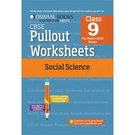 Oswaal CBSE Pullout Worksheet Social Science for Class 9 (2018)