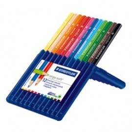 Staedtler Ergosoft Colour Pencils Set of 12 in Staedtler Box (157SB12)