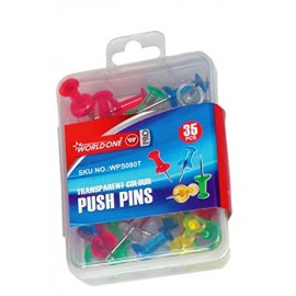 World One Push Pins - Set of 3 Packs (WPS080T) Mixed Colours