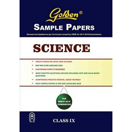 Golden (New Age) Sample Papers for Science of Class 9 (2018)