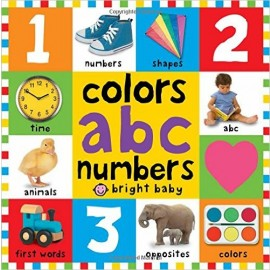 Bright Baby Big Board Books Colors, ABC, Numbers (First 100) by Roger Priddy