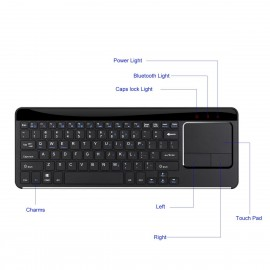 Nukkads Premium Ultra Thin 2.4ghz Wireless Keyboard withTouchpad