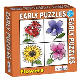 Creative Educational Aids Early Puzzles - Flowers (0756)
