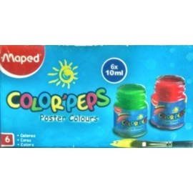 Maped Colour Peps Poster Colours Pack of 6 (827006)
