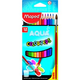 Maped Colour Pencils Aqua Water Colour Pencils 12 Shades (836011)