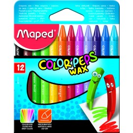 Maped Colour Peps Wax Crayons 12 Shades (861011)