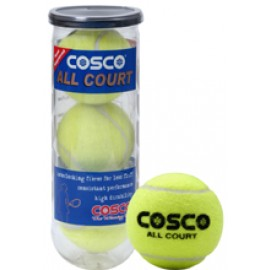 Cosco All Court Tennis Ball Pack of 3 Pcs.