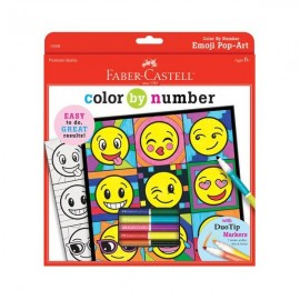 Faber Castell Colour by Number Emoji Pop Art