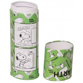 Snoopy Twist Up-Lid Pencil Box (Green)