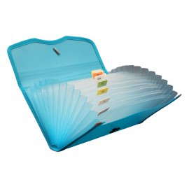 Solo Expanding Cheque Case Elastic 12 Section (EX701)