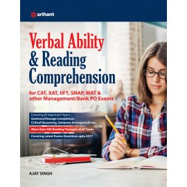 Arihant Study Guide Mastering the Verbal Ability for CAT (Common Admission Test) (2019)