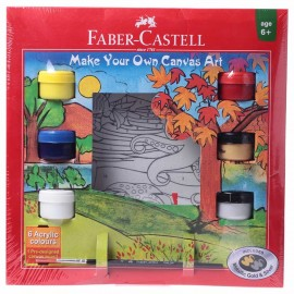 Faber-Castell Gift Pack Make Your Own Canvas Kit -Aqua