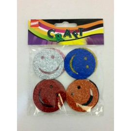 Glitter Stickons (Smileys)-Assorted Pack of 8 Pcs