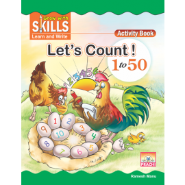 Prachi Let's Count 1-50 Textbook for Nursery (Pre Primer)