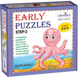 Creative Educational Aids Early Puzzles Step 2 - Water Animals (0786)