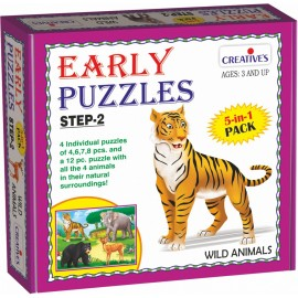 Creative Educational Aids Early Puzzles Step 2 - Wild Animals (0787)
